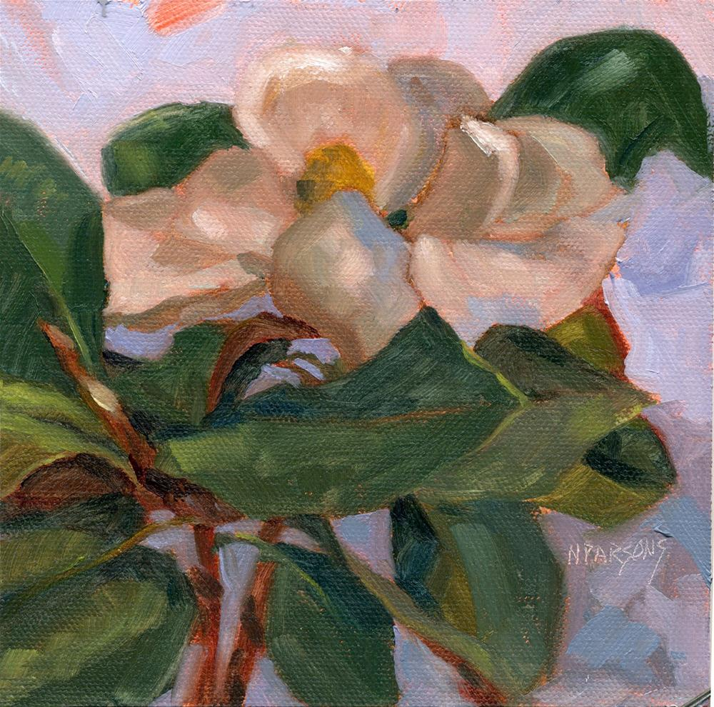 """Magnolia Minuet"" original fine art by Nancy Parsons"