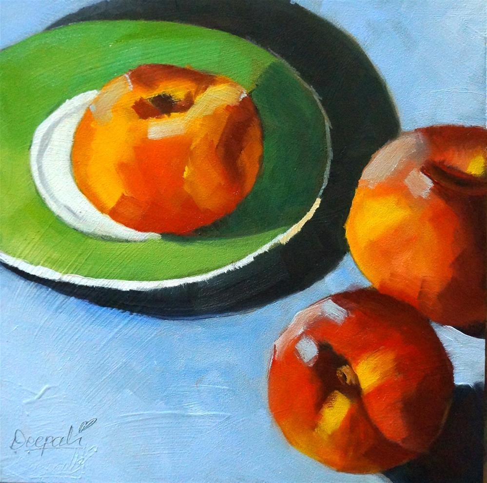 """Peaches"" original fine art by Dipali Rabadiya"