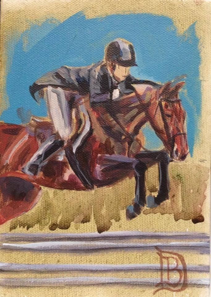 """#33 Jumper"" original fine art by Bobbie Deuell"
