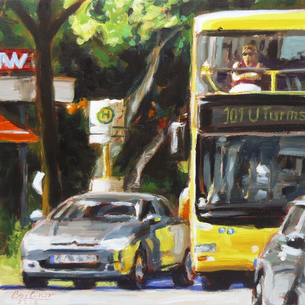 """060 Bus 101"" original fine art by Anja Berliner"