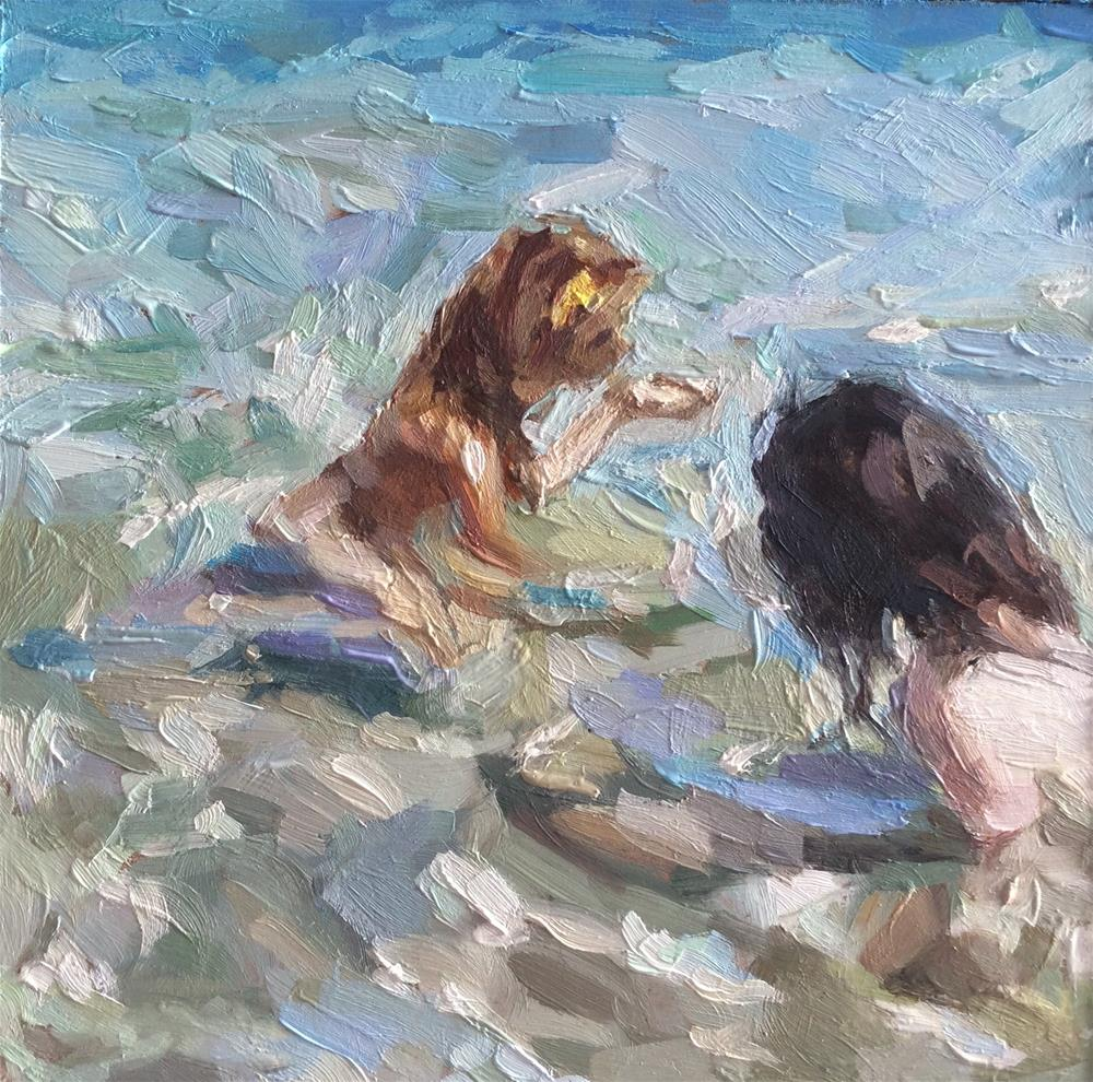 """Mermaid and Merman"" original fine art by Paula Howson-Green"