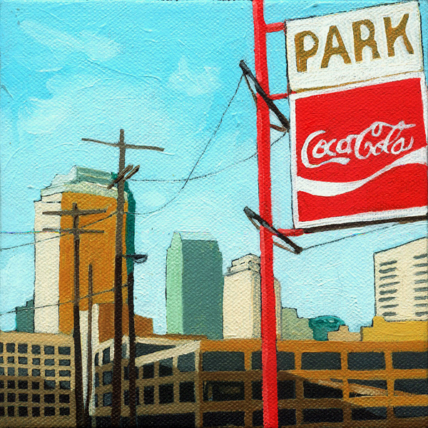 """Coca Cola Park - summer special"" original fine art by Linda Apple"