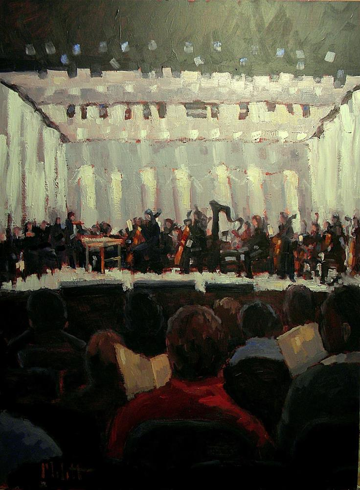 """Night at the Philharmonic 9x12 Painting Orchestra Embassy Theater"" original fine art by Heidi Malott"