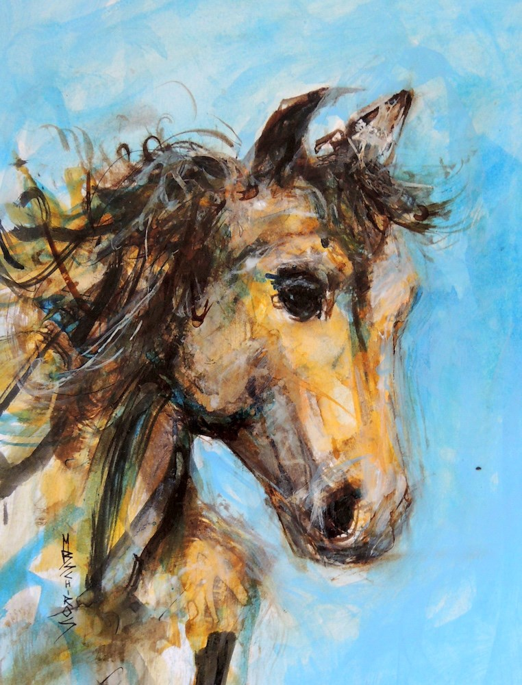 """Into the Wind"" original fine art by Mary Schiros"