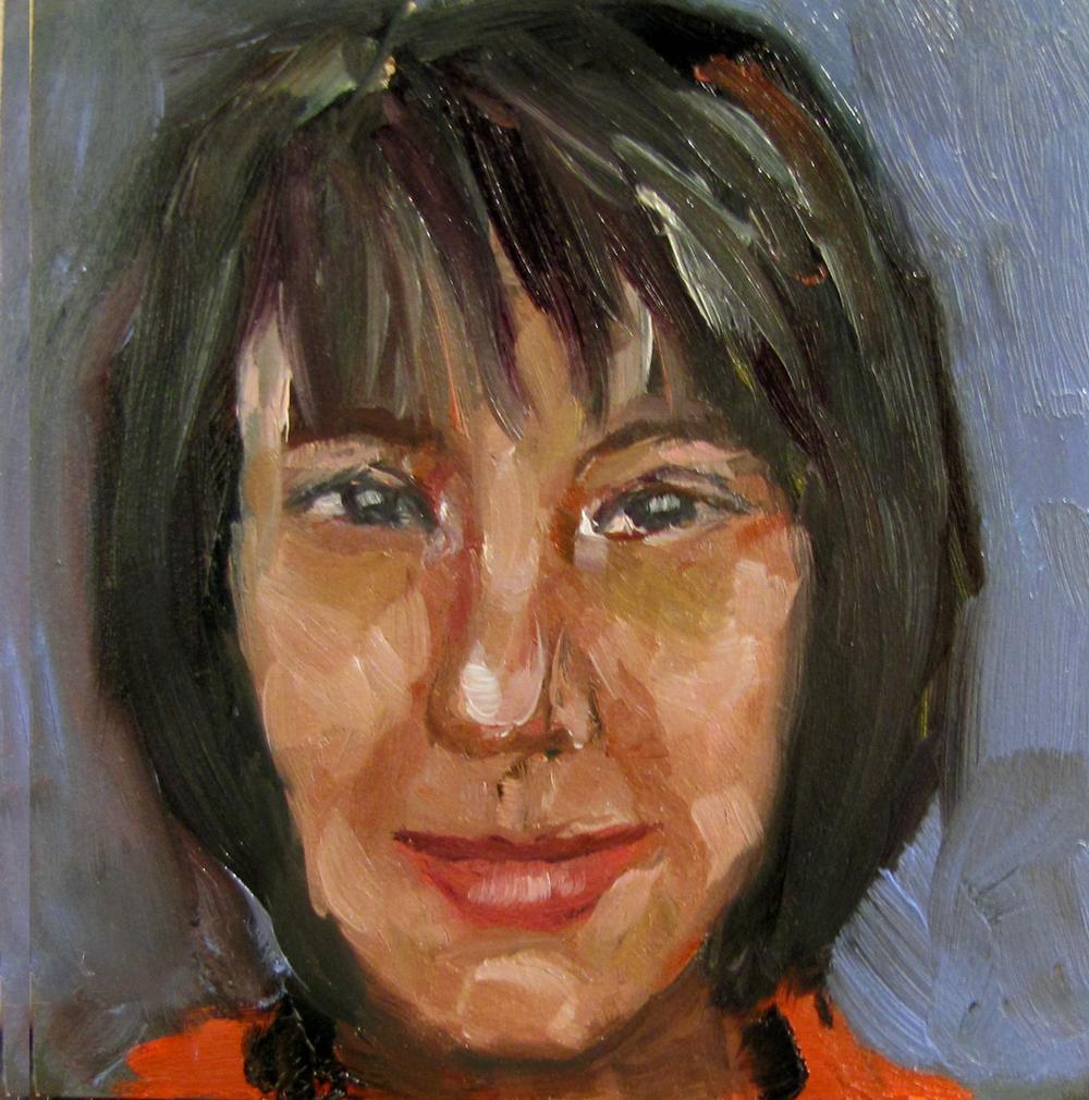 """""""Regula Babyface Scheifele"""" original fine art by Maria Bennett Hock"""