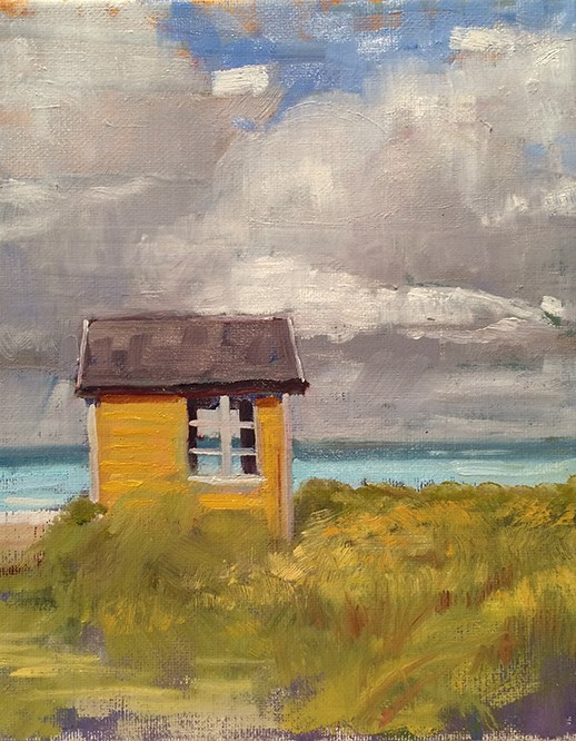 """By the Sea"" original fine art by Deborah Newman"