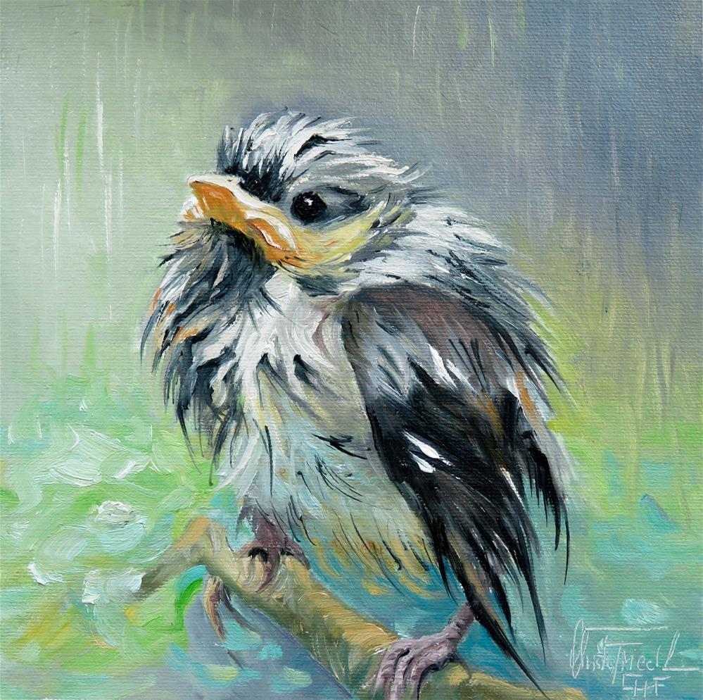 """What a rainy day"" original fine art by Christa Friedl"