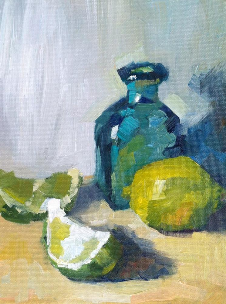 """Study in Green and Blue"" original fine art by Michael Williamson"