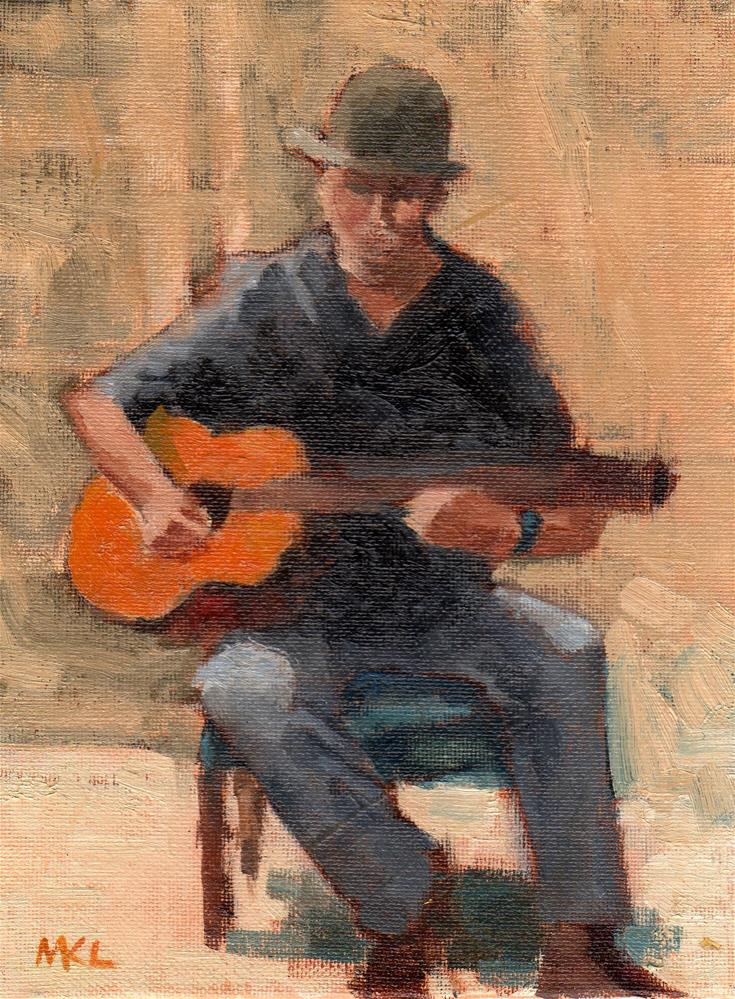 """Strumming Memories"" original fine art by Marlene Lee"