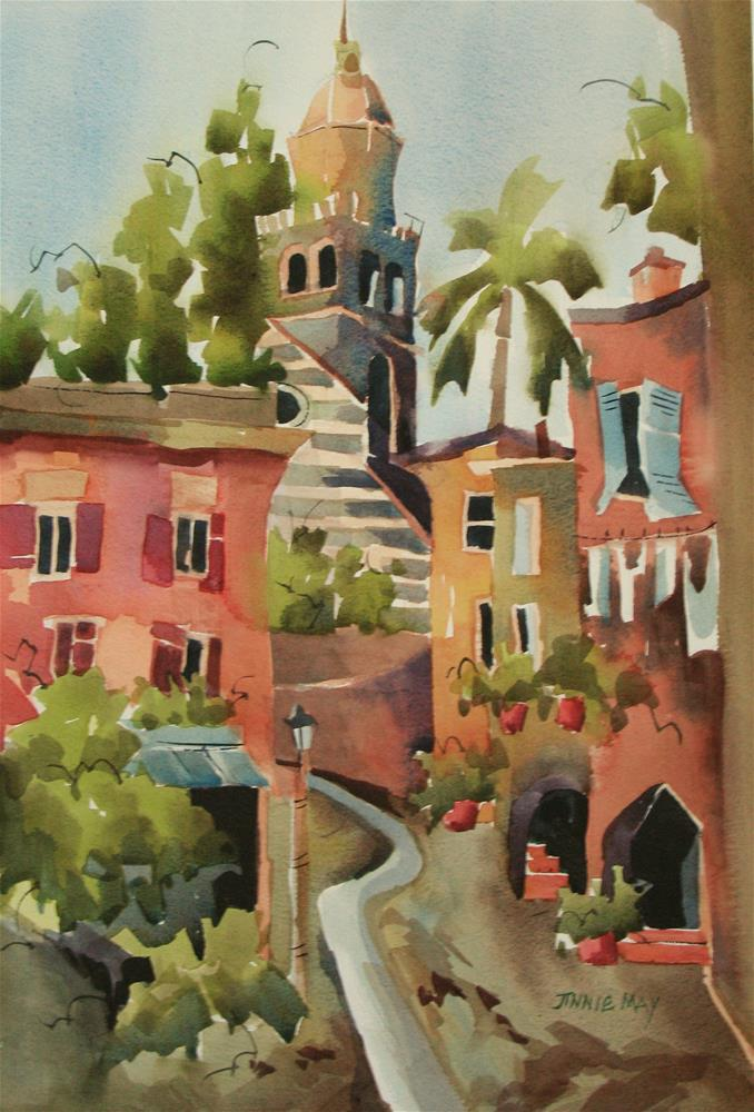 """Portofino #3"" original fine art by Jinnie May"