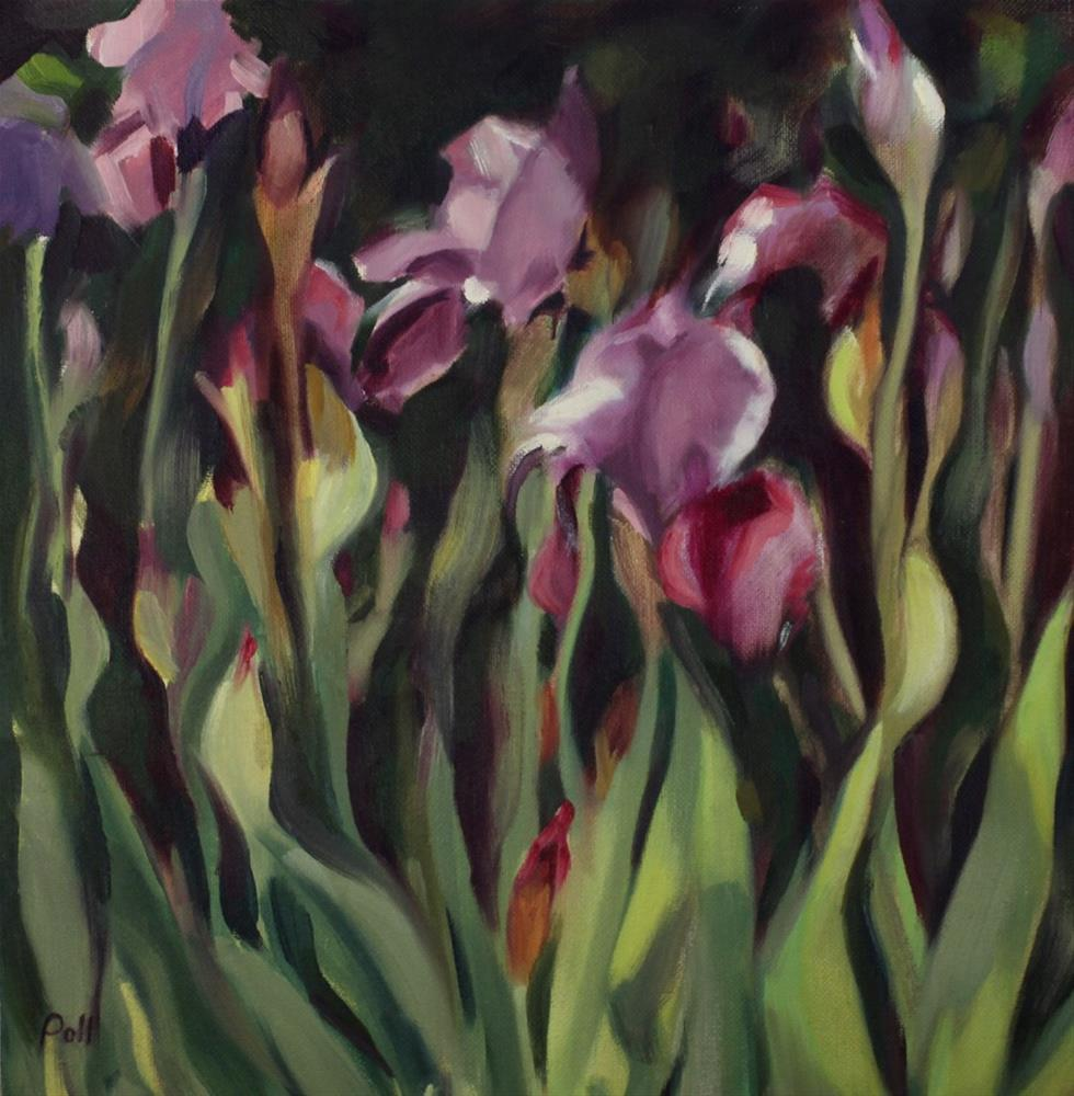 """Iris Blooms"" original fine art by Pamela Poll"