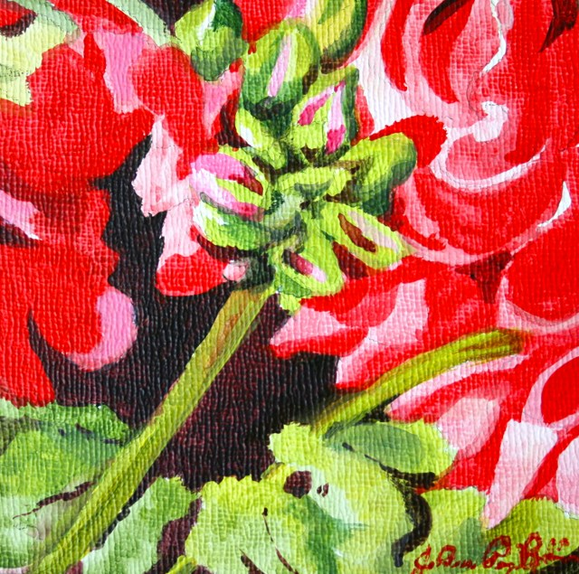 """Vintage Geraniums"" original fine art by JoAnne Perez Robinson"