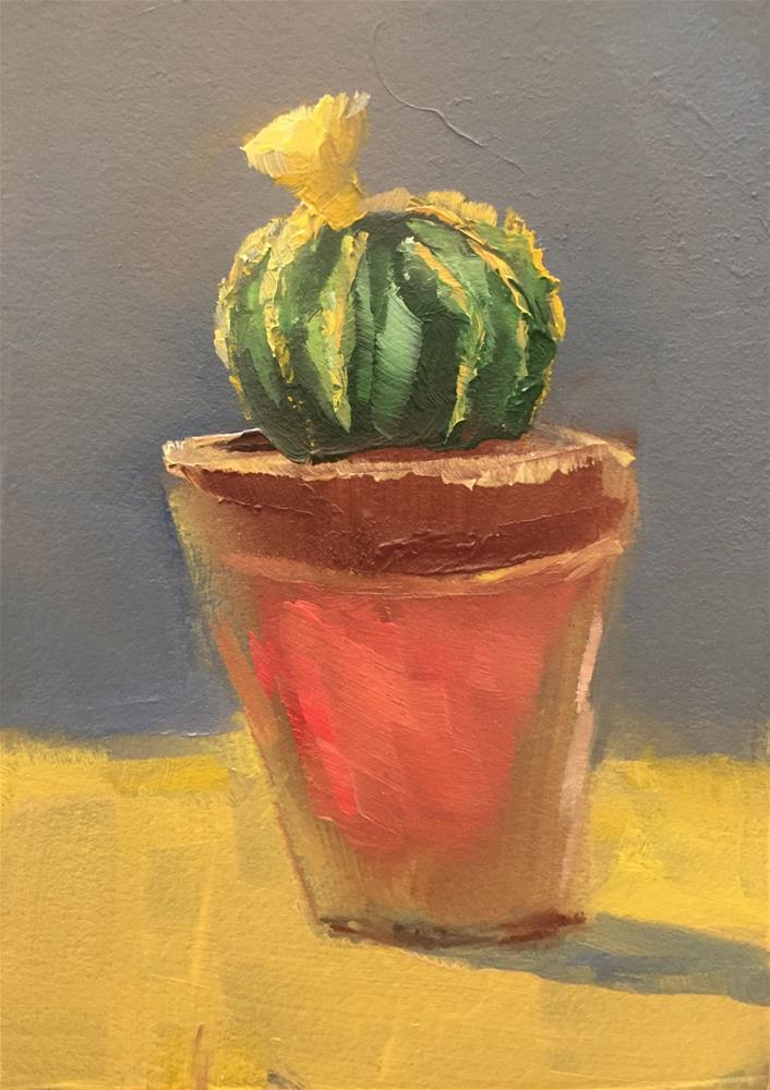 """Ball Cactus"" original fine art by Gary Bruton"