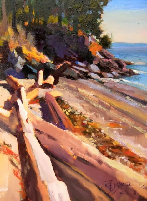 """Obstruction Pass  Obstruction Pass State Park, plein air, oil , landscape painting by Robin Weiss"" original fine art by Robin Weiss"