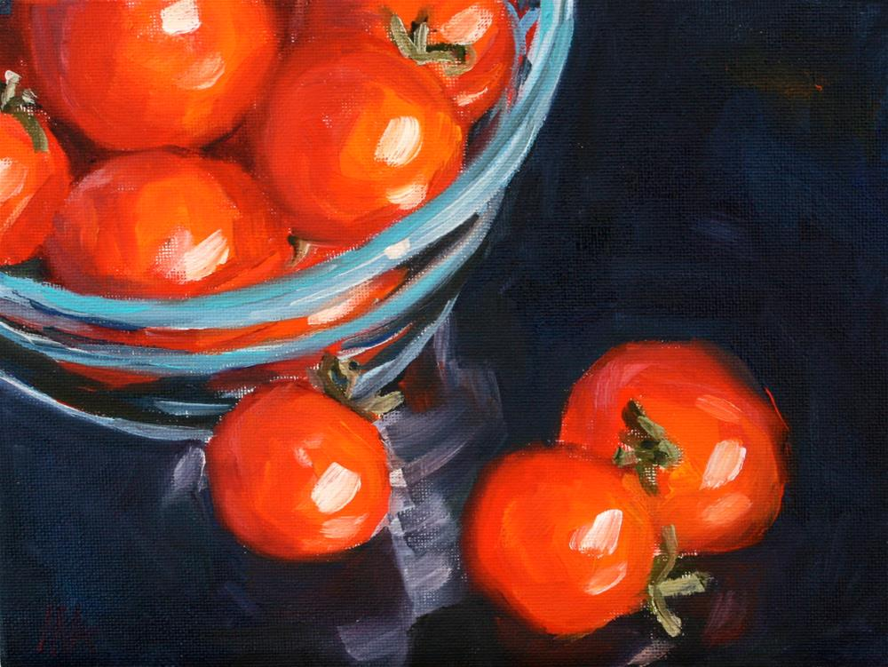 """Big Picture of Small Tomatoes"" original fine art by Aniko Makay"