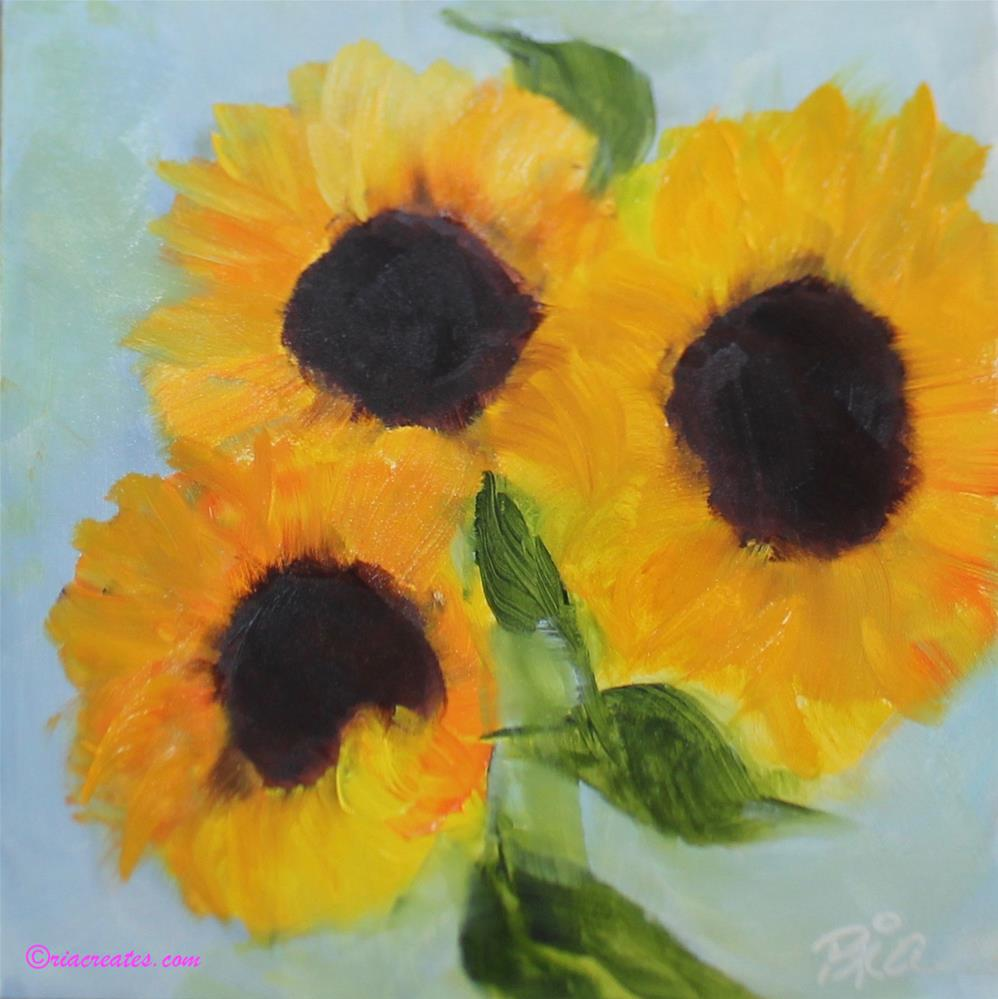 """Little Tuscan Sun"" original fine art by Maria Reed"