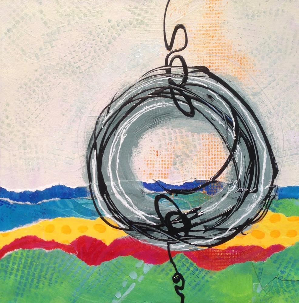 """Tire Swing, Spring Day"" original fine art by Dotty  Seiter"