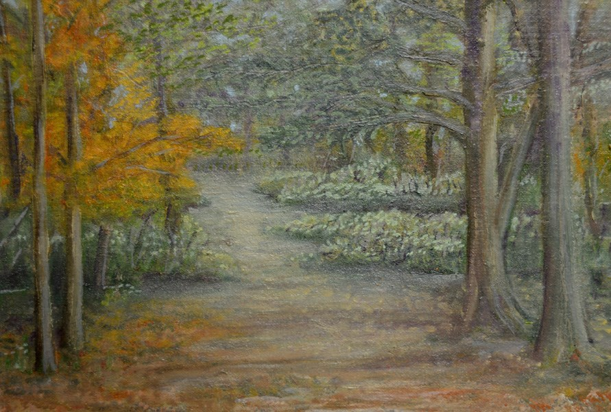 """Down The Path"" original fine art by Janice Bartke Thompson"