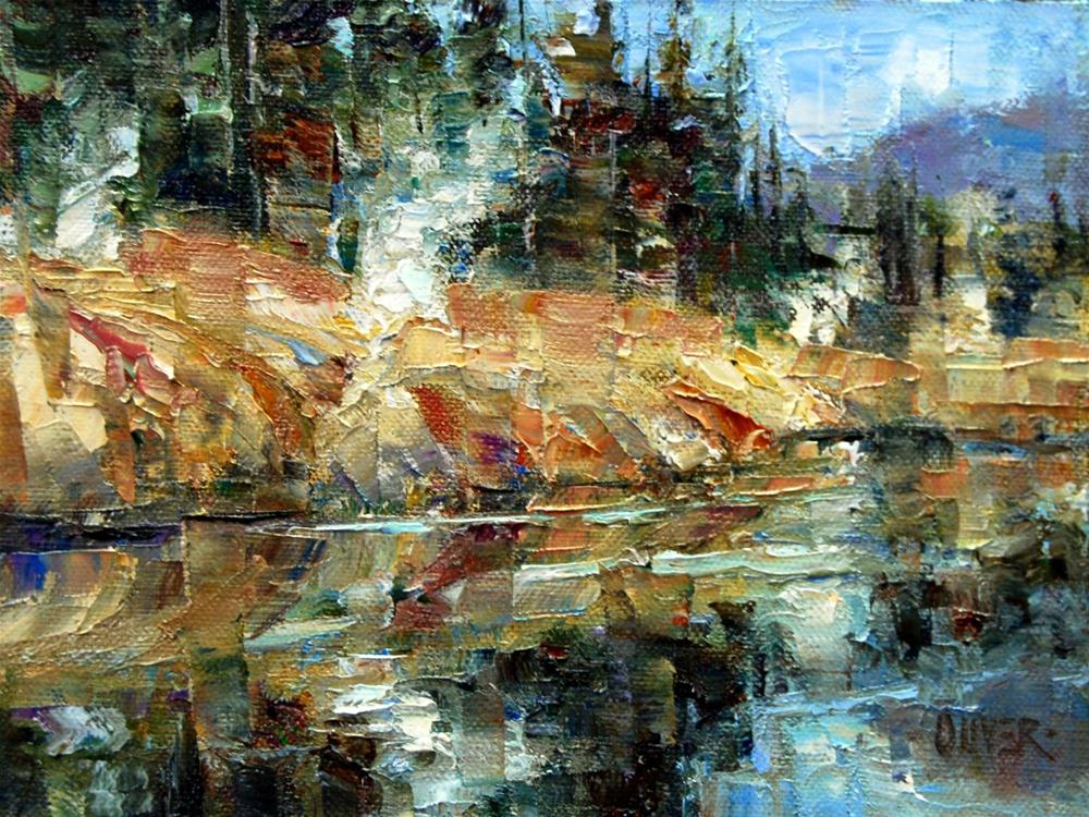 """""""Hot spots along the River - Yellowstone"""" original fine art by Julie Ford Oliver"""