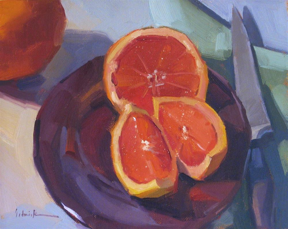 """Two Grapefruit"" original fine art by Sarah Sedwick"
