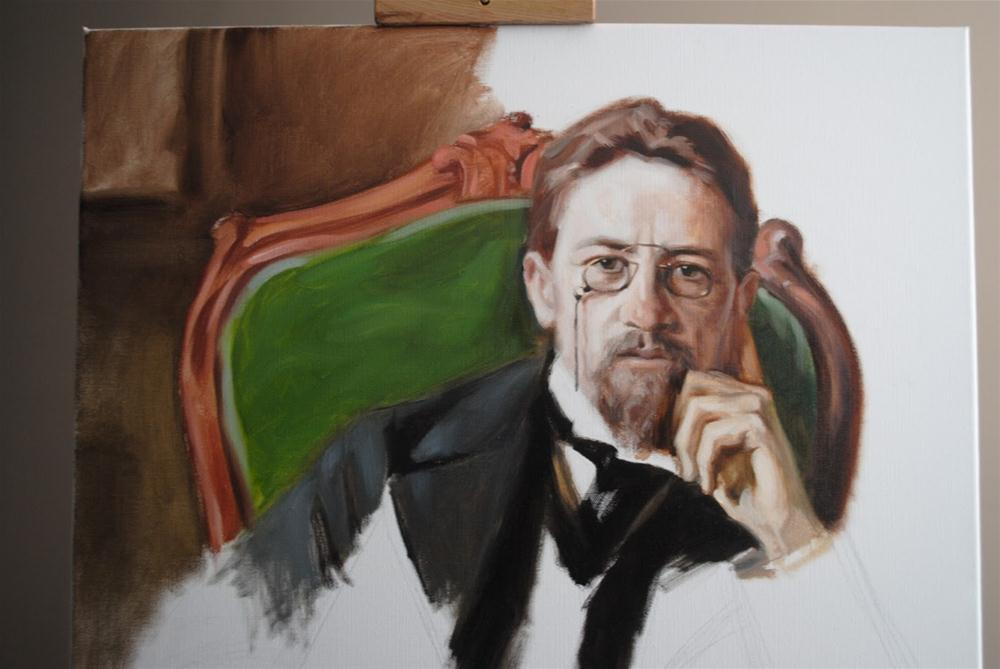 """Chekhov in Process"" original fine art by Elena Katsyura"