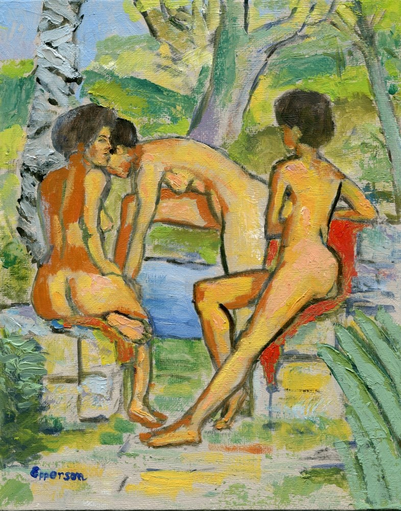 """Bathers Lagoon"" original fine art by Stanley Epperson"