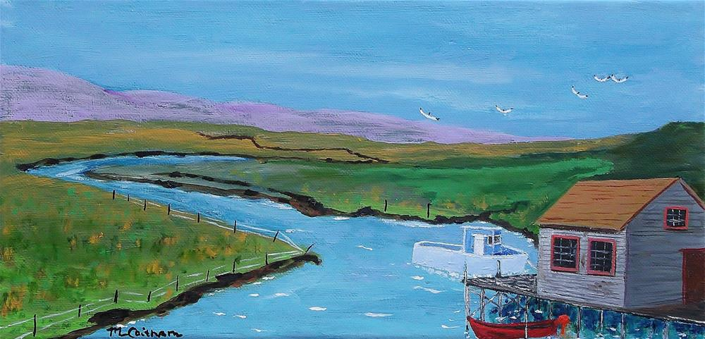 """Sunday Afternoon on the California Delta"" original fine art by Mike Caitham"