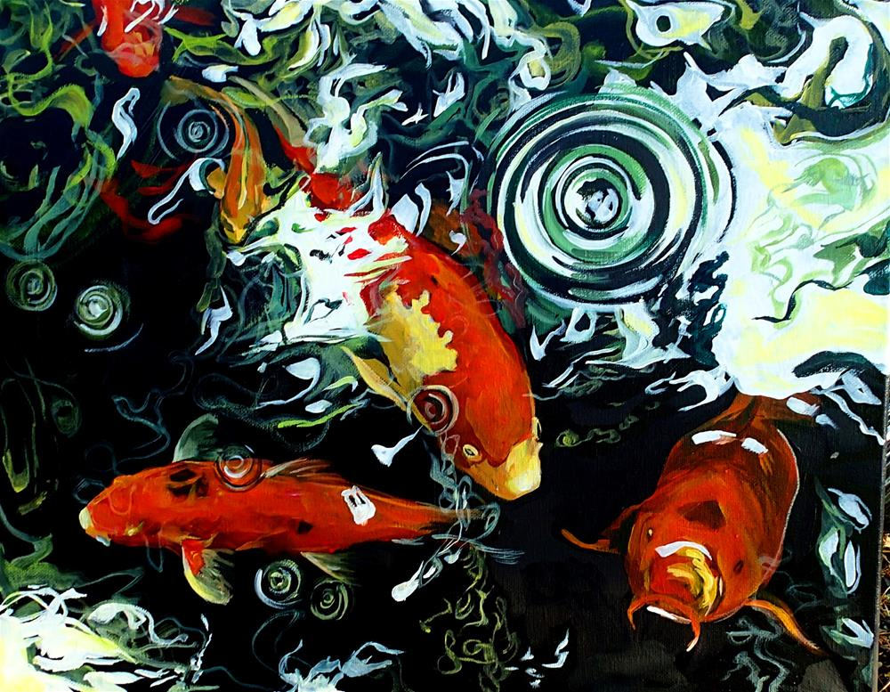 """Koi Dance"" original fine art by Lauren Kuhn"