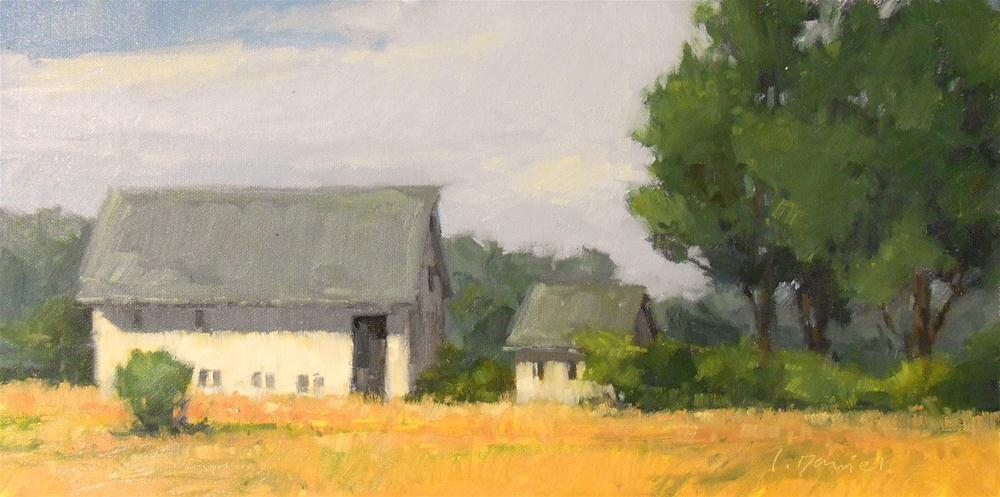 """Farmstead - Door County Plein Air"" original fine art by Laurel Daniel"