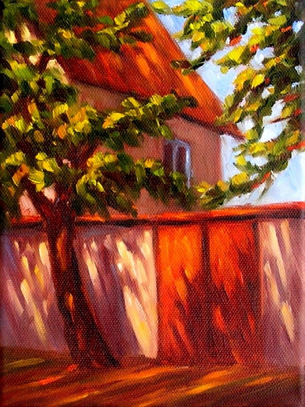"""Red Gate"" original fine art by Irina Beskina"