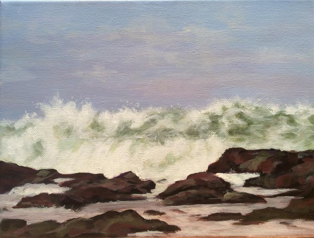 """Oregon Surf"" original fine art by wendy black"