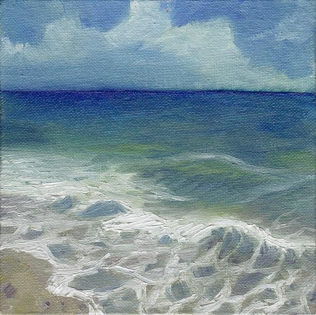 """Waves, Cornwall"" original fine art by J M Needham"