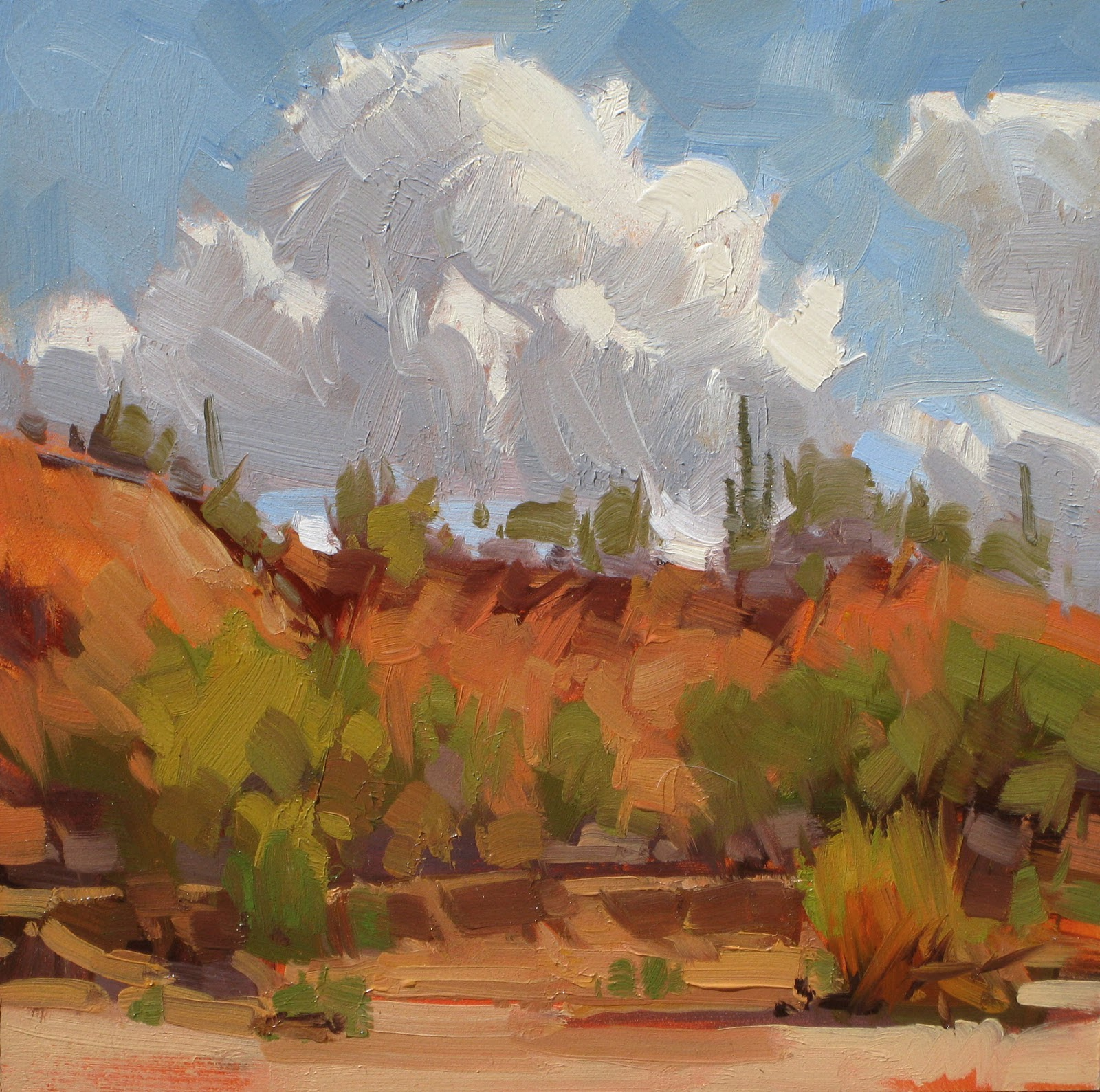 """DESERT WASH"" original fine art by James Coulter"