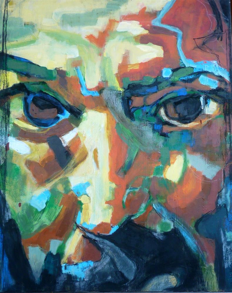 """""""Buntes Portrait - Mann / colorful portrait man"""" original fine art by Mila Plaickner"""