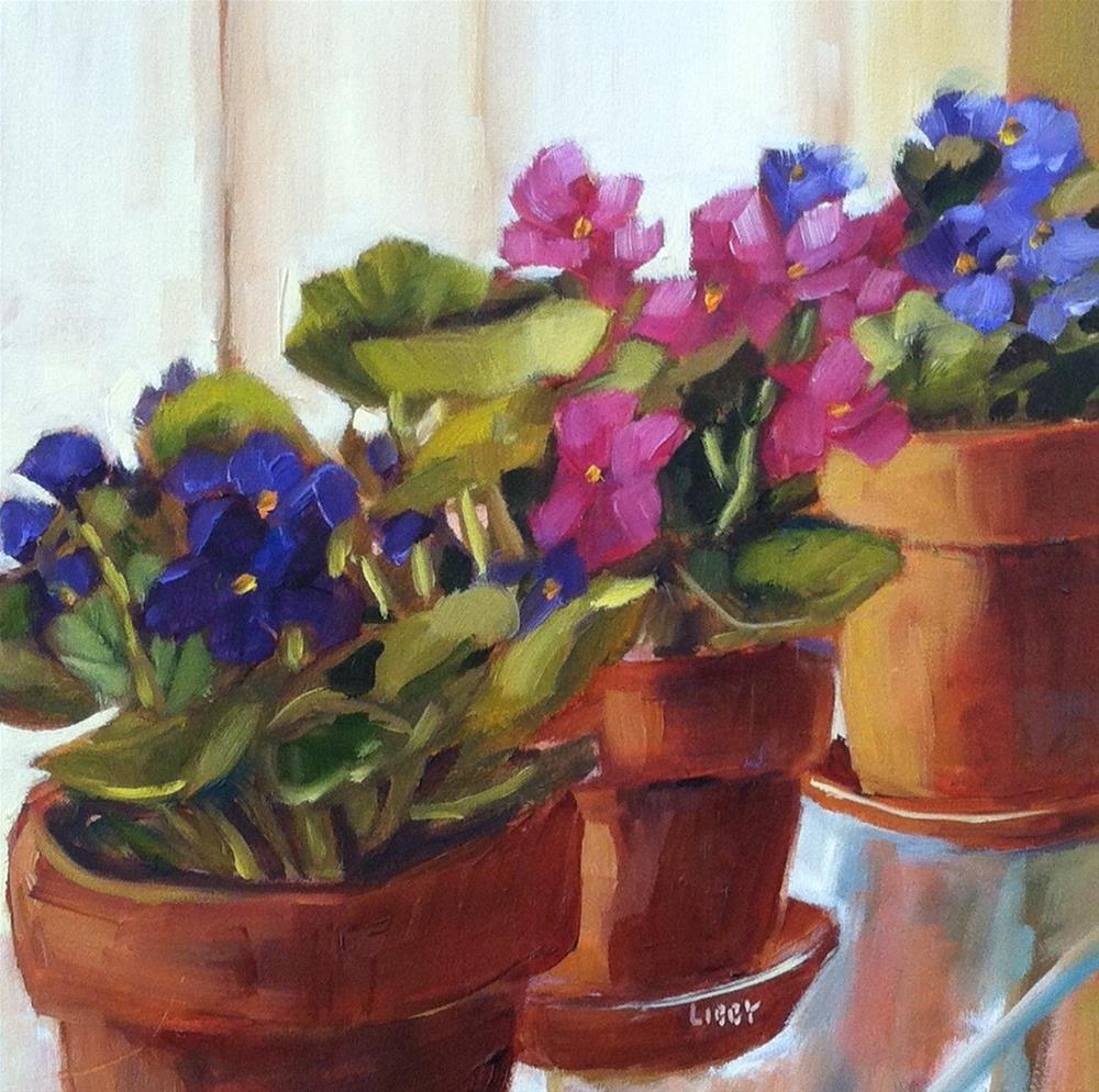 """Violet Trio"" original fine art by Libby Anderson"