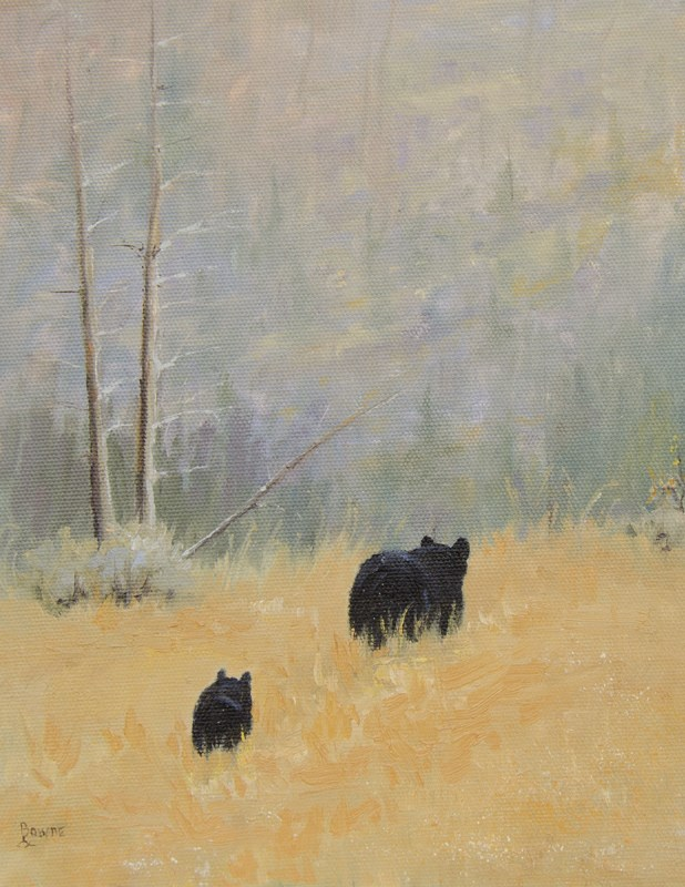 """Mama & Baby Bear"" original fine art by Bonnie Bowne"
