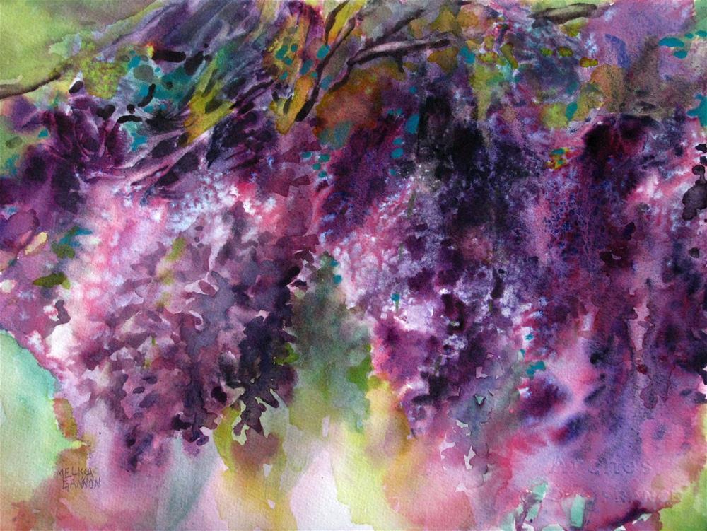 """Wisteria Spring"" original fine art by Melissa Gannon"