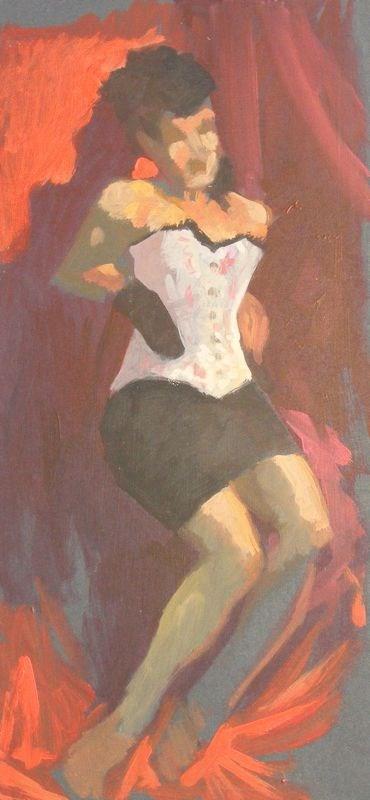 """Costume pose"" original fine art by Peter Orrock"