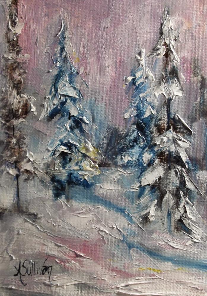 """For Snow I Am Thankful snowscape by Alabama Artist Angela Sullivan"" original fine art by Angela Sullivan"