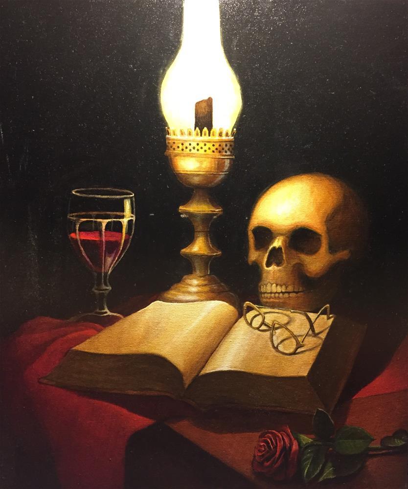 """""""Deadly night"""" original fine art by Eduardo Posadas"""