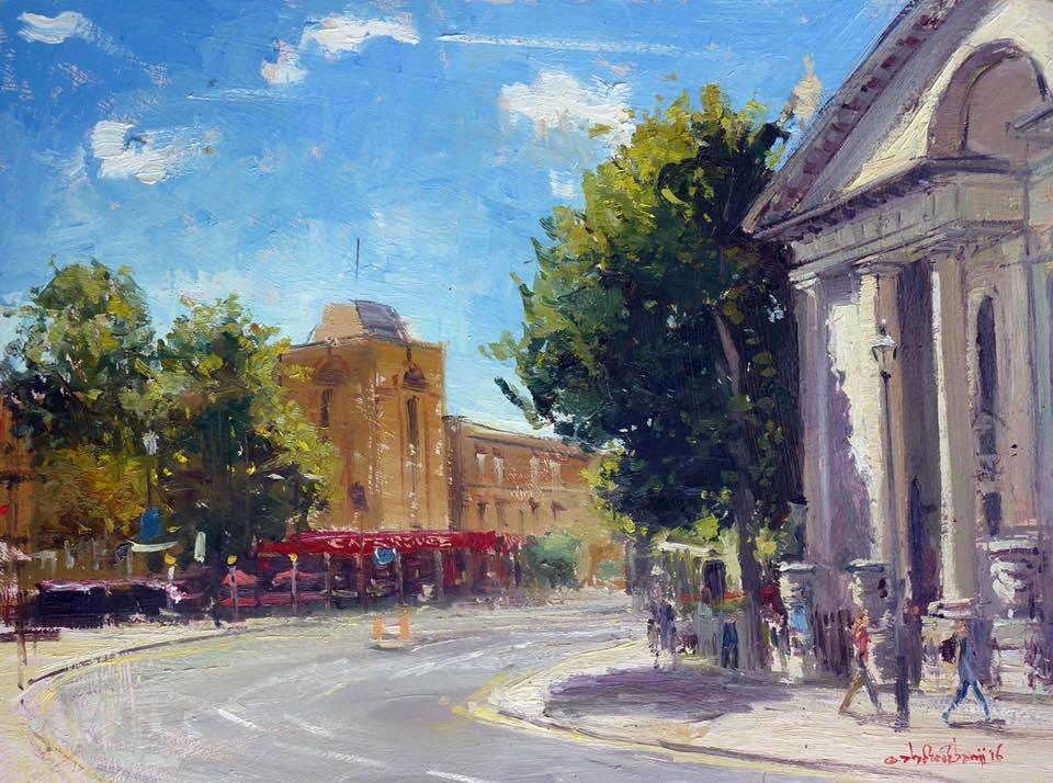 """Summerlight, Greenwich"" original fine art by Adebanji Alade"