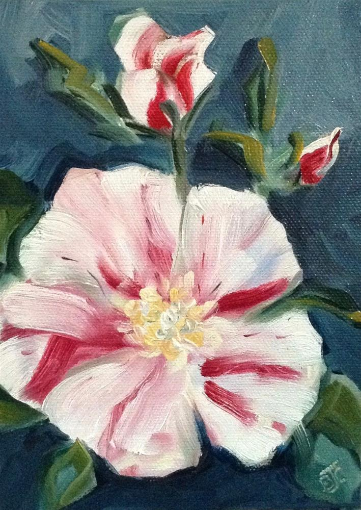 """Peppermint Rose"" original fine art by Bobbie Cook"