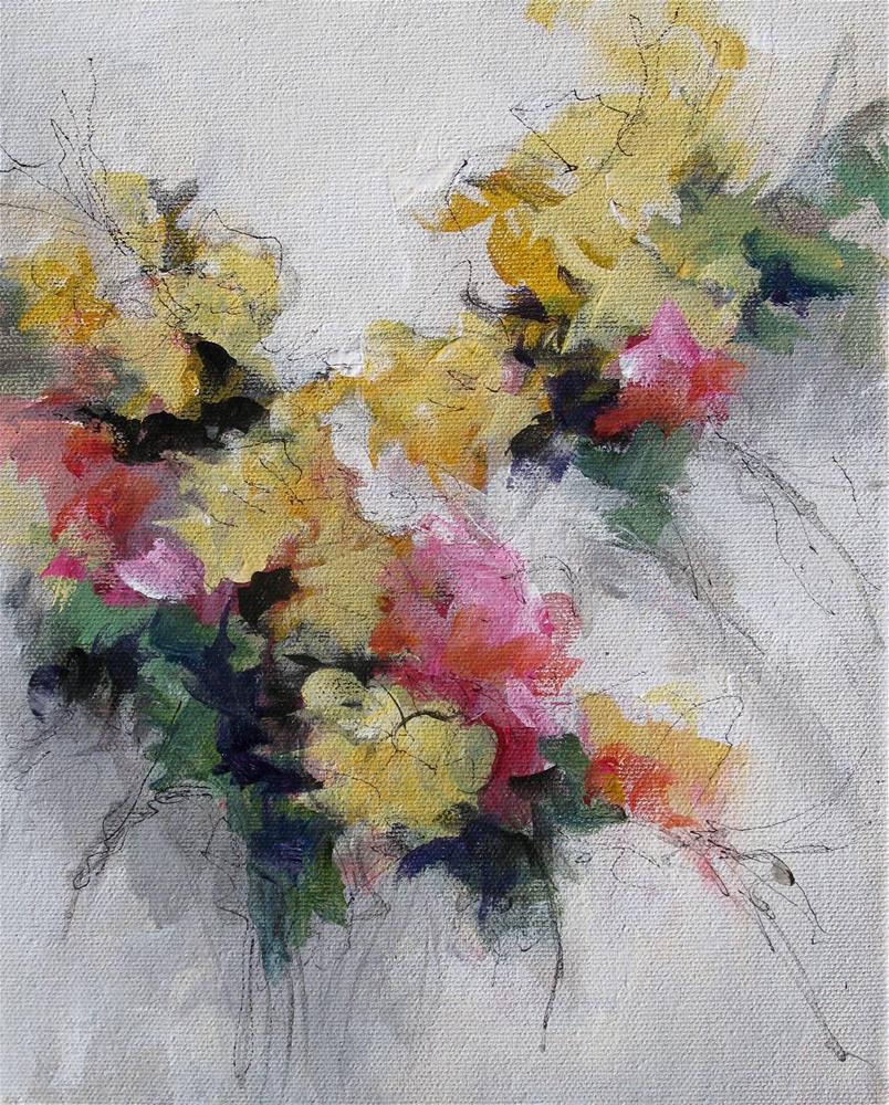"""""""Floral 5"""" original fine art by Karen Hale"""