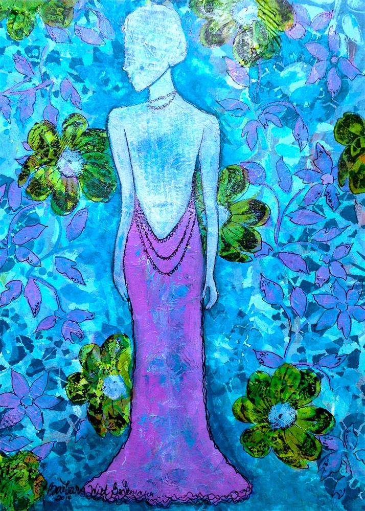 """Into the garden"" original fine art by Barbara Beckmann"