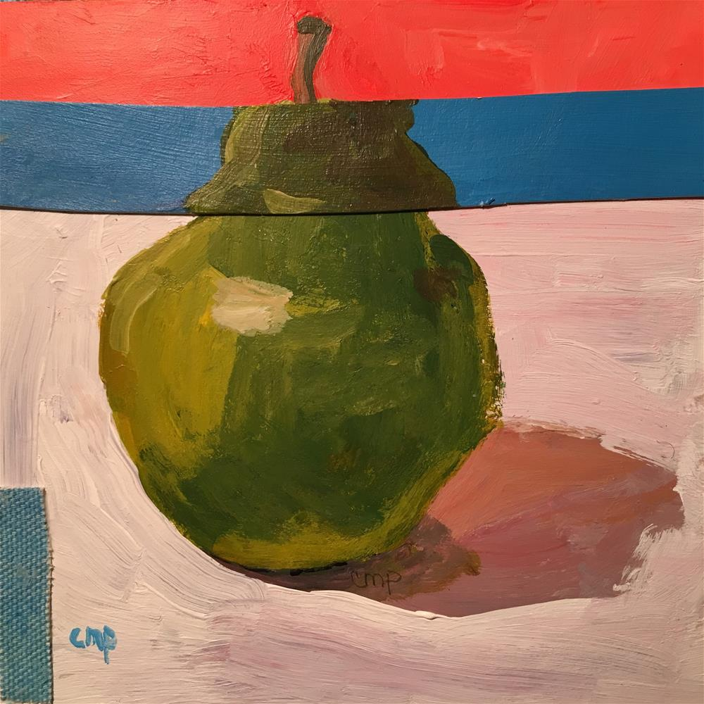 """Pear collage"" original fine art by Christine Parker"