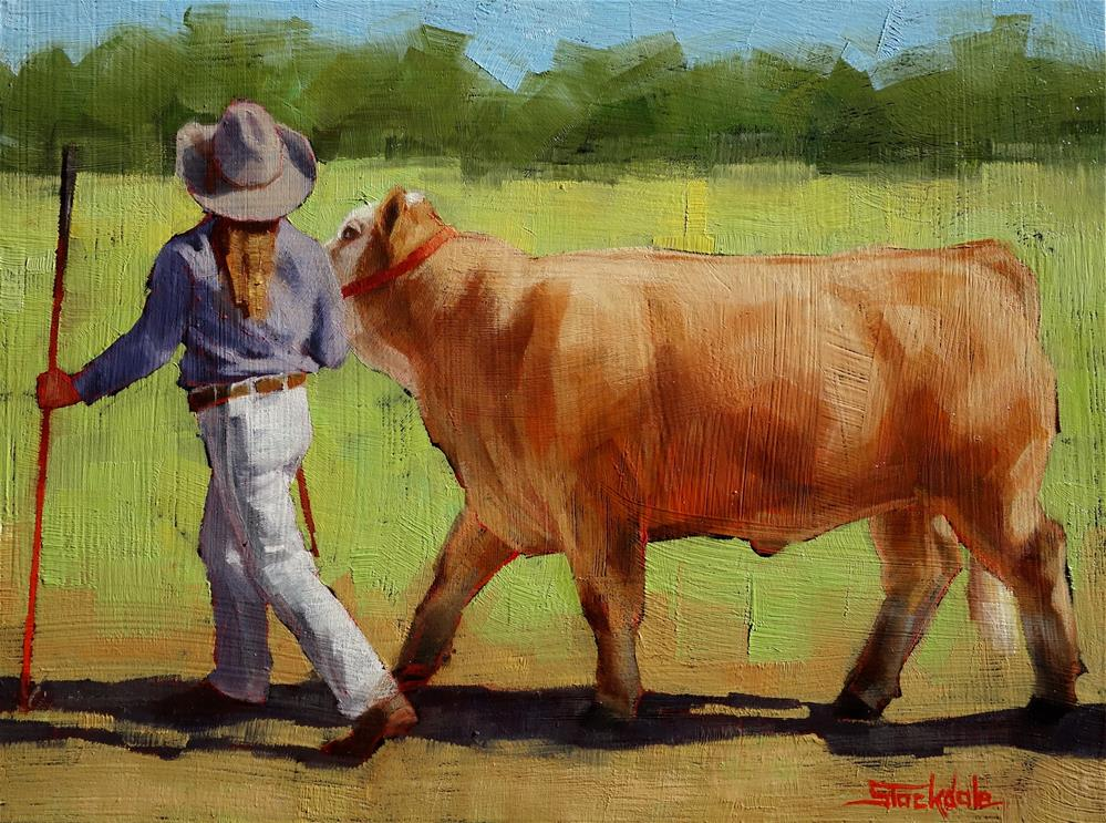"""""""Ready For The Show"""" original fine art by Margaret Stockdale"""