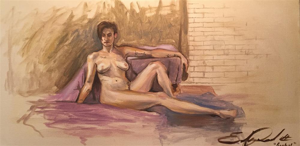 """""""Rachel loves her tatoos"""" original fine art by Eduardo Posadas"""
