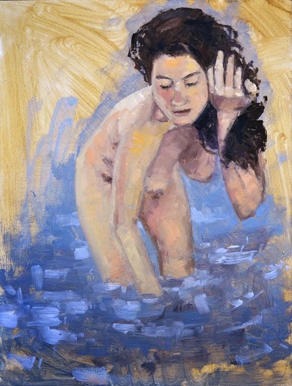 """Bather"" original fine art by Andrew Daniel"