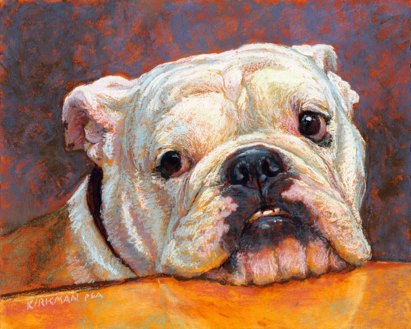 """Stella, a pet portrait commission"" original fine art by Rita Kirkman"