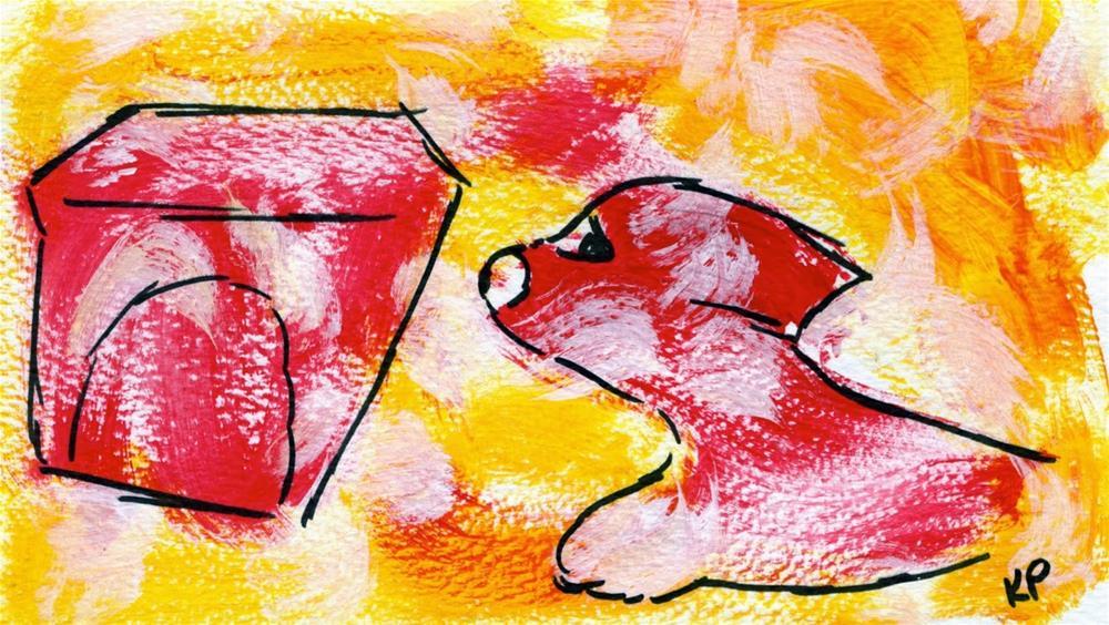 """Bounding Toward Home"" original fine art by Kali Parsons"